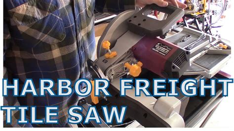 harbor frieght tile saw unboxing and assembly