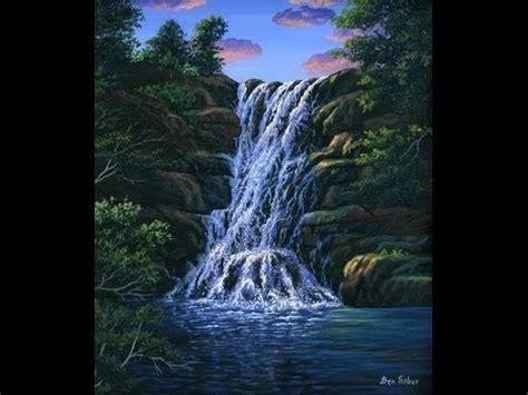 comment peindre la chute d eau a l acrylique sur la toile cours complet