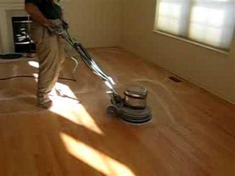 buffing hardwood floors