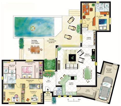 les 25 meilleures id 233 es concernant plans de maison sur plan maison 224 quatre chambres