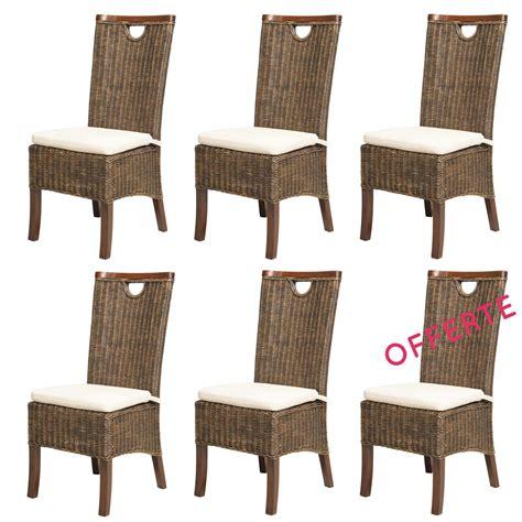 lot chaises en rotin meubles en rotin lot 6 chaises en rotin racine moka rotin design