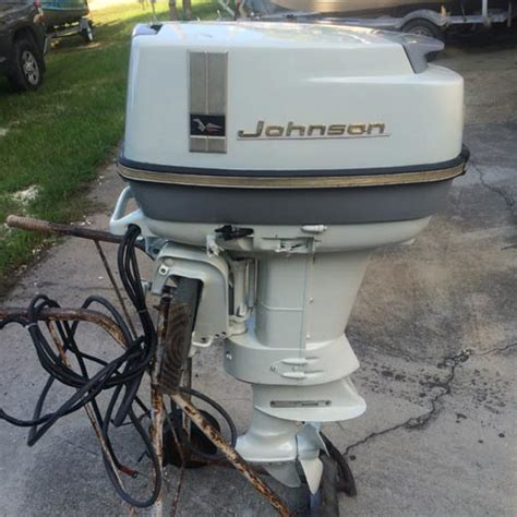 20 Horse Johnson Boat Motor by 1966 40 Hp Johnson Outboard Antique Boat Motor For Sale