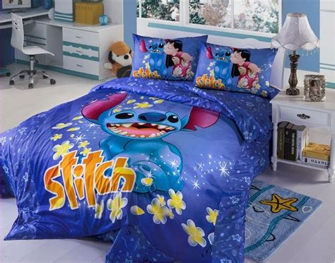 new 2015 disney lilo stitch bedding set 4pc king bed cotton gift ebay