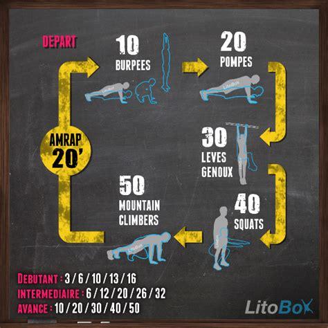 circuit avec des exercices au poids du corps 161