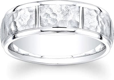 Men's Hammered Finish Wedding Band7mm Unim5027. Gia Engagement Rings. Lace Rings. Cracked Rings. 3ct Wedding Rings