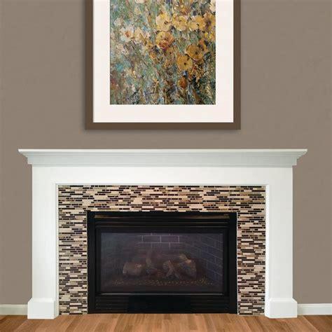 smart tiles bellagio keystone 10 06 in w x 10 in h peel and stick self adhesive decorative