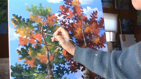 peindre arbres complete normale acrylique toile