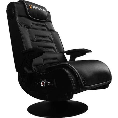 x rocker pro black faux leather gaming chair w pedestal 51396 ebay