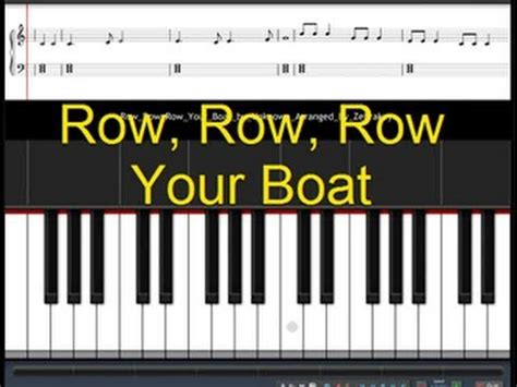 Row Your Boat On Youtube by How To Play Row Row Row Your Boat Youtube