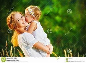 Happy Family On Summer. Little Girl Child Baby Daughter ...