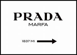 Prada Marfa Bild Bedeutung : poster prada marfa schild in schwarz wei gossip girl fashion poster und plakat ~ Markanthonyermac.com Haus und Dekorationen