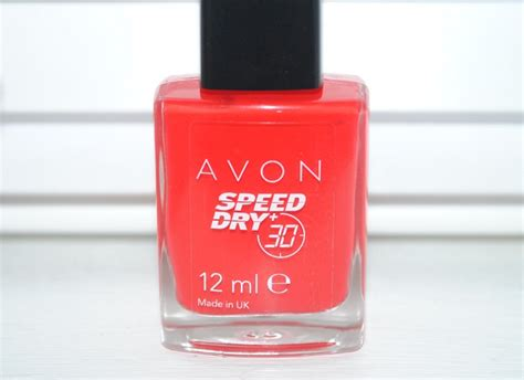 Avon Speed Dry + Nail Polish Review