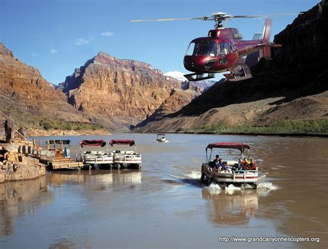 Grand Canyon Pontoon Boat Tours by Grand Canyon Helicopter And Boat Tour