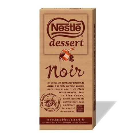 tablette de chocolat nestle dessert noir le club nestl 233 antilles guyane