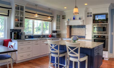 A Coastal Kitchen In Montclair  Traditional Kitchen