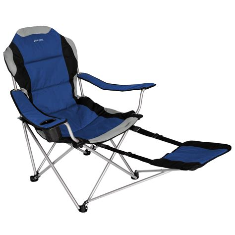 xscape sportline xl fold chair w footrest black