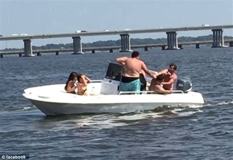 Drunk On A Boat by Video Of Brawl Breaking Out On Maryland Rental Boat On