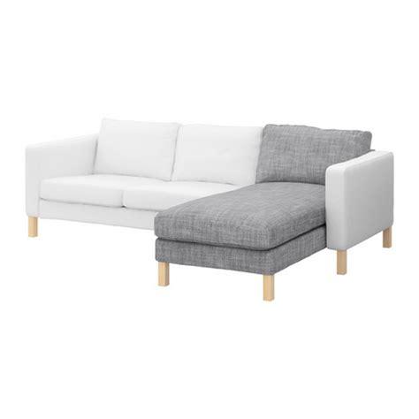 ikea karlstad add on chaise longue slipcover lounge cover isunda gray grey