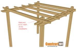 simple diy pergola plans construct101