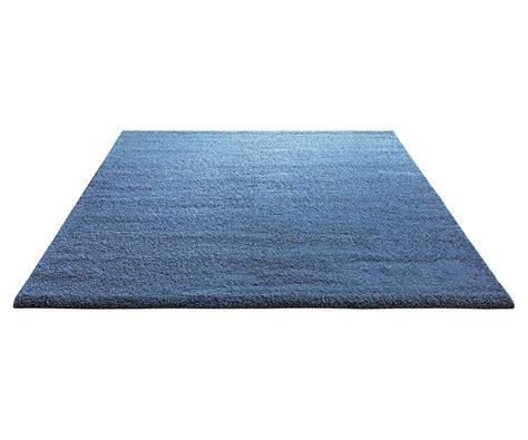 tapis shaggy en polyester et bleu clair wool par esprit home