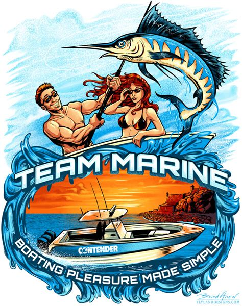 Sea Ray Boats T Shirts by New T Shirt Design For Team Marine Flyland Designs