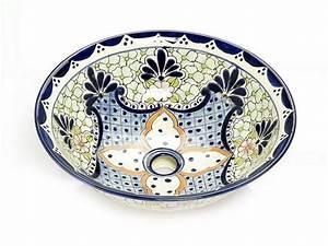 Bemalte Keramik Waschbecken : aufsatzwaschbecke aus mexiko celeste ~ Markanthonyermac.com Haus und Dekorationen