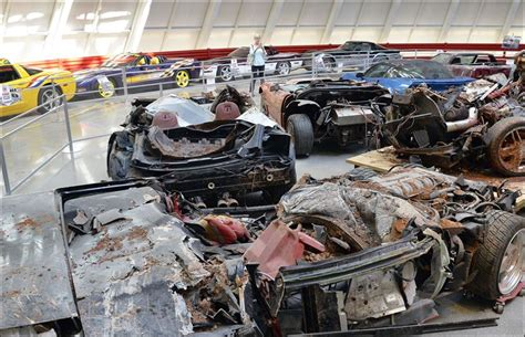 wrecked cars revving up visits to national corvette museum toledo blade