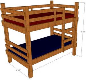 Loft Bed Woodworking Plans by Bunk Bed Plans Save Money And Space By Building Your Own