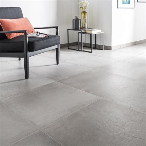 carrelage sol et mur gris ciment effet b 233 ton time l 60 x l 60 cm leroy merlin
