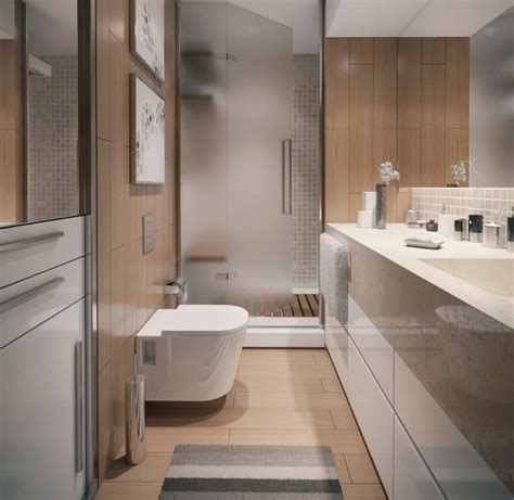 Modern Minimalist Apartment Bathroom Interior Design With