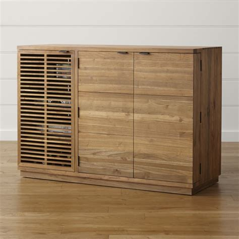 marin large bar media cabinet crate and barrel