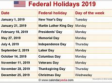 November 2019 Calendar With Holidays 2018 calendar printable