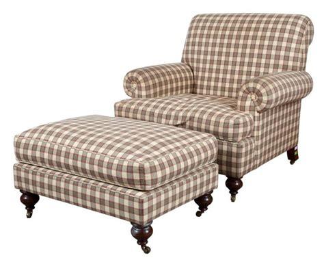 upholstered oversized chair and ottoman
