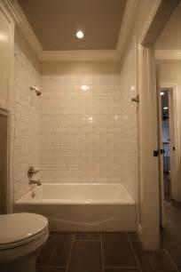 Subway Tile Tub Surround by 1000 Ideas About Subway Tile Bathrooms On Pinterest