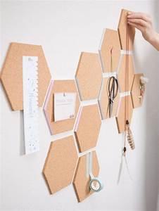 Ideen Für Pinnwand : diy anleitung waben pinnwand aus kork selber machen cork pinboard for your workspace wall ~ Markanthonyermac.com Haus und Dekorationen