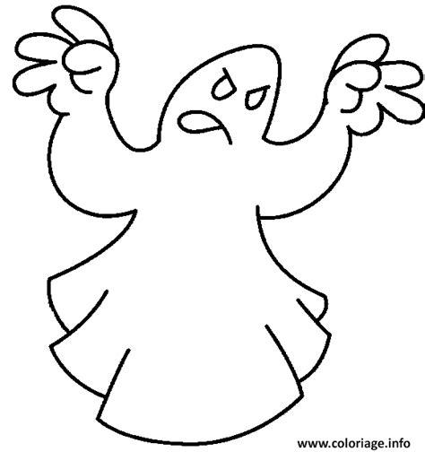 coloriage un fantome qui essai de faire peur dessin