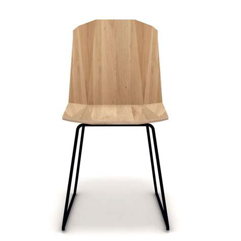 chaise facette ethnicraft chaise en ch 234 ne massif et pied m 233 tal