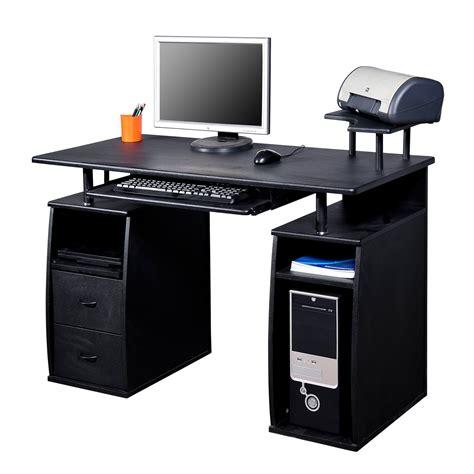 bureau pour ordinateur table meuble pc informatique multimedia noir neuf 07 aosom fr