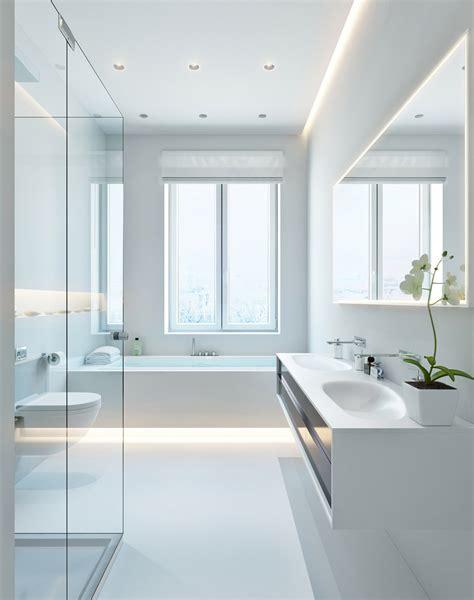 Modern White Bathroom  Interior Design Ideas