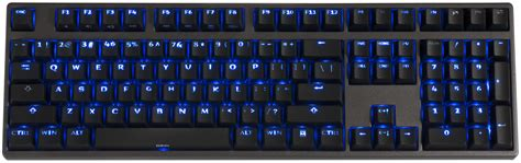 deck hassium pro 108 pbt blue led backlit mechanical gaming keyboard brown cherry mx