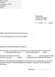 modele lettre de demission association loi 1901