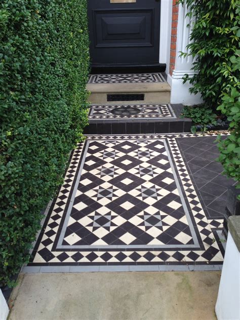 black and white tessellated front patio tiles in photos search fences and outdoor