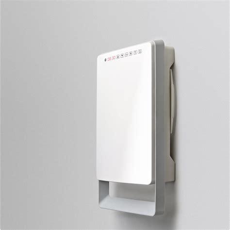 radiateur soufflant salle de bain fixe 233 lectrique touch gris 1800 w leroy merlin