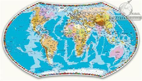 carte murale du monde