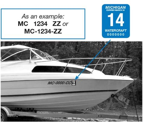 Ct Boat Registration Numbers Rules by Installing Your Michigan Mc Numbers Michigan Mc Numbers