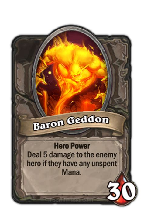 baron geddon normal hearthstone wiki