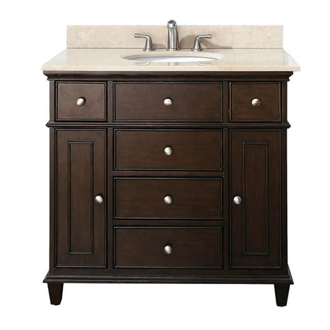 37 inch single bathroom vanity in walnut with a choice of top uvacwindsorvs36wa37