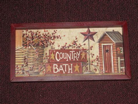 primitive country bath wall decor 6 inches x 12 inches ebay