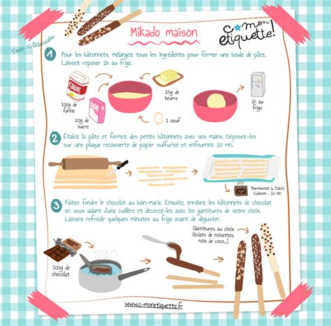 recette de mikados maison