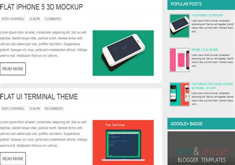 Hooly Responsive Blogger Template